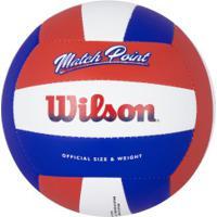 Bola De Vôlei Wilson Match Point - Vermelho/Azul