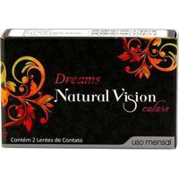 Lente De Contato Dreams Natural Vision Mensal Sem Grau Verde Plano