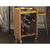 Adega Para 20 Garrafas Bar Drink Buriti/Amarelo - Líder Design