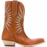 Golden Goose Bota Cowboy Wish Star - Marrom
