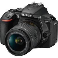 Câmera D5600, 24.2Mp, Wi-Fi, Lente Af-P Dx Nikkor 18-55Mm Vr - Preta Nikon