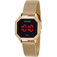 Relógio Mondaine Quadrado Digital 32094Mpmvde1 - Unissex-Dourado