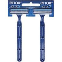 Kit 2 Aparelhos De Barbear Enox Gt2 Para Homens - Masculino-Incolor
