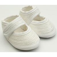 Sapato Lantejoula - Feminino-Branco