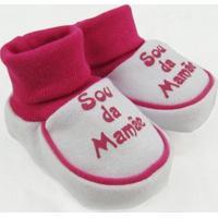 Pantufa Bebê Feminina Suedine Sou Da Mamãe Pink - Feminino-Pink