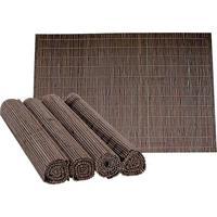 Jogo Americano Bamboo 4 Peças Marrom Ref-34142