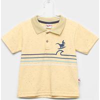 1cc90341c ... Camiseta Polo Infantil Kiko & Kika Piquet Botonê Dinossauro - Masculino- Amarelo