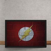 Quadro Decorativo The Flash Logo Mural Minimalista Chapiscado Dc Comics 25X35