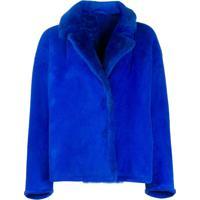 Salvatore Santoro Boxy Fit Button Down Jacket - Azul