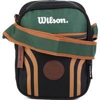Bolsa Wilson Shoulder Bag Retrô - Unissex-Preto+Verde