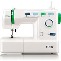Máquina De Costura Elgin Jx 2011 Decora Mais Branco/Verde 220V