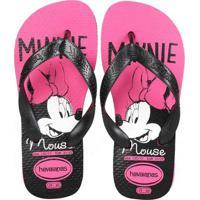 Chinelo Infantil Havaianas Top Disney Minnie Rosa