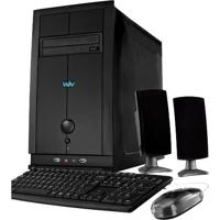 Computador Desktop Cce T240S - Ram 2Gb - Hd 500Gb- Intel Atom D2500 - Gravador De Dvd - Windows 7 Starter