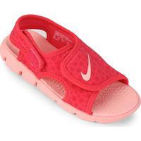 Sandália Nike Sunray Adjust 4 Infantil - Feminino-Coral