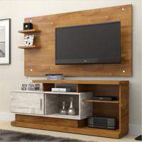 Rack Com Painel Para Tv 47 Polegadas Camaçari Caramelo E Champanhe 156 Cm