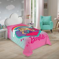 Manta Fleece Infantil Solteiro Lepper Barbie Reinos Mágicos Pink