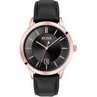 Relógio Hugo Boss Masculino Couro Preto - 1513686