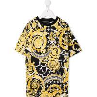 Young Versace Vestido Estampado - Amarelo