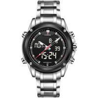 Relógio Naviforce Nf9050 -Prata E Cinza