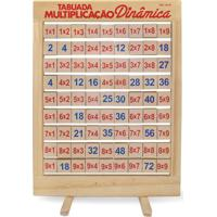 Tabuada Multiplicaçáo Dinâmica Com 81 Peças Giratórias - Jottplay - Tricae