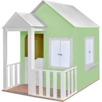Casinha De Brinquedo Criança Feliz Com Cercado Verde/Branco