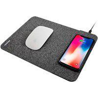 Carregador Por Indução Com Mousepad Compatível Com Smartphones Padrão Qi Cinza - Geonav - Mpisg