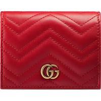 Gucci Porta-Cartões 'Gg Marmont' - Vermelho