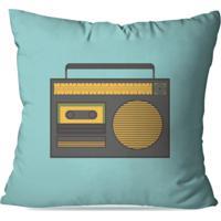 Almofada Avulsa Decorativa Radio Retro 35X35Cm