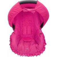 Capa Para Bebê Conforto 0 A 13 Kg Poá Alan Pierre Baby Pink