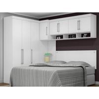 Dormitório De Casal 8 Portas Modena Branco - Lc Móveis