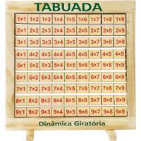 Tabuada Dinâmica Giratória Quadro Em Madeira - Fundamental - Tricae