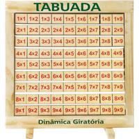 Tabuada Dinâmica Giratória Quadro Em Madeira - Fundamental