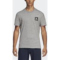 Camiseta Adidas 3-Stripes Id Masculina - Masculino-Cinza