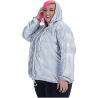 Jaqueta Corta-Vento Com Capuz Wonder Size Holográfica - Feminina - Furtacor