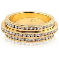 Aliança De Casamento Ouro Amarelo E Diamantes Love Me (6Mm)