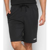 Shorts Adidas 3S Shrt Ft Masculino - Masculino-Preto