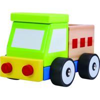 Carrinho De Madeira Desmontável - Caminhão Brinquedo Educativo Tooky Toy