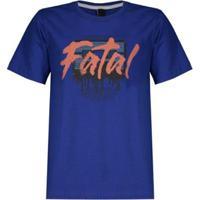 Camiseta Fatal Tape Estampada Juvenil - Masculino-Azul