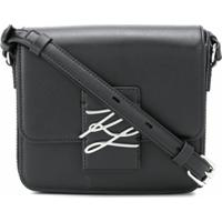 Karl Lagerfeld Bolsa Transversal K/Autograph Com Logo - Preto