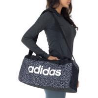 Mala Adidas Linear - Feminina - Preto/Branco