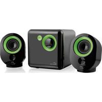 Caixa De Som 2.1 Bivolt 16W Rms Multilaser Verde - Sp142