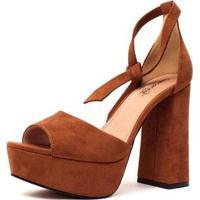 Sandália Karin Damannu Shoes Feminina - Feminino-Caramelo
