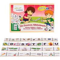 Brinquedo Educativo Kit Dominos Alfabetizaçao Com 4 Jogos Editora Fundamental Amarelo