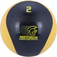 Medicine Ball 2Kg Pretorian - Preto/Amarelo Esc