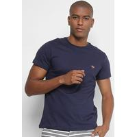 Camiseta Polo Rg 518 Bordado Color Masculina - Masculino-Marinho