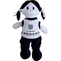 Boneca Mascote Do Figueirense - Torcida Baby - Unissex-Branco+Preto