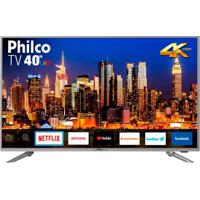 Smart Tv Philco 40 Polegadas Led 4K 40Ptv40G50Sns Prata