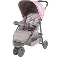 Carrinho De Bebê Junne Triciclo Baby Style Rosa - Tricae