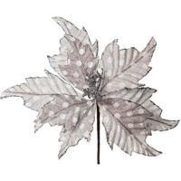 Flor Decorativa- Prateada- 30X20X20Cm- Cromuscromus
