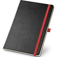 Caderneta De Anotações Topget 13,7X21Cm 80 Folhas Pautadas Preto E Vermelho